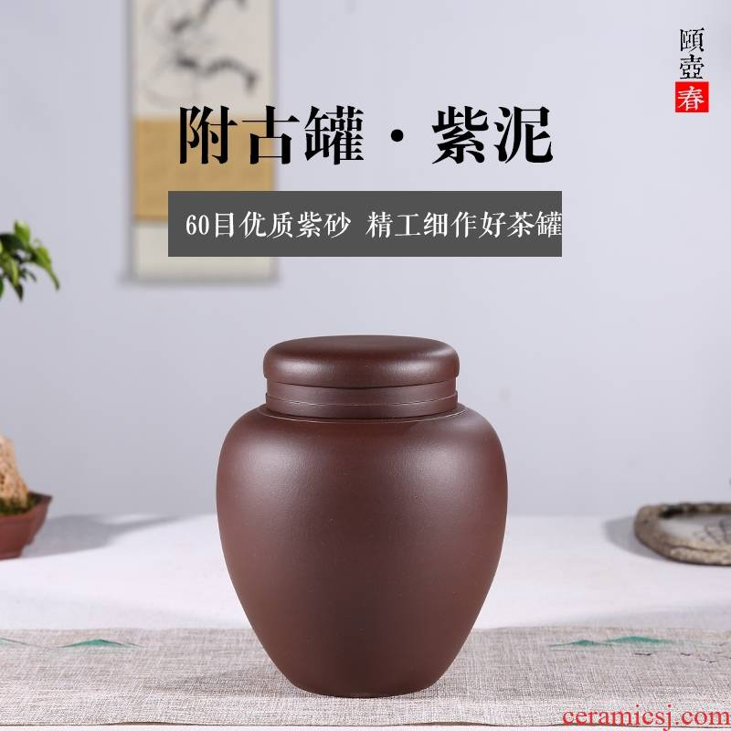 Shadow enjoy fine purple sand tea pot of pu 'er tea to wake ceramic seal tank undressed ore purple mud flap is highly consistent with JH