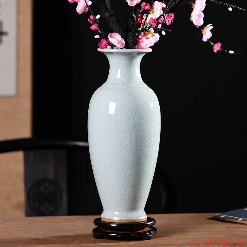 Start restoring ancient ways is guanyao vase furnishing articles 30 cm high sitting room of Chinese style flower arranging white office of jingdezhen ceramics