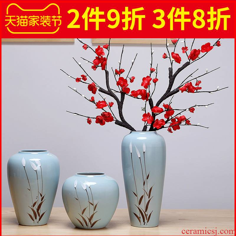 Nordic sitting room mesa ceramic vase simulation creative dry flower flower flower furnishing articles contracted and I window decorations