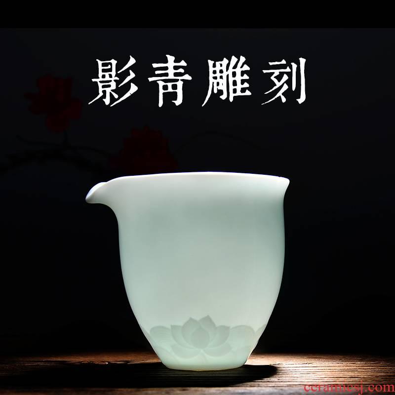 24 apparatus shadow celadon carving jingdezhen ceramic fair keller and a cup of tea is tea sea big points kung fu tea set