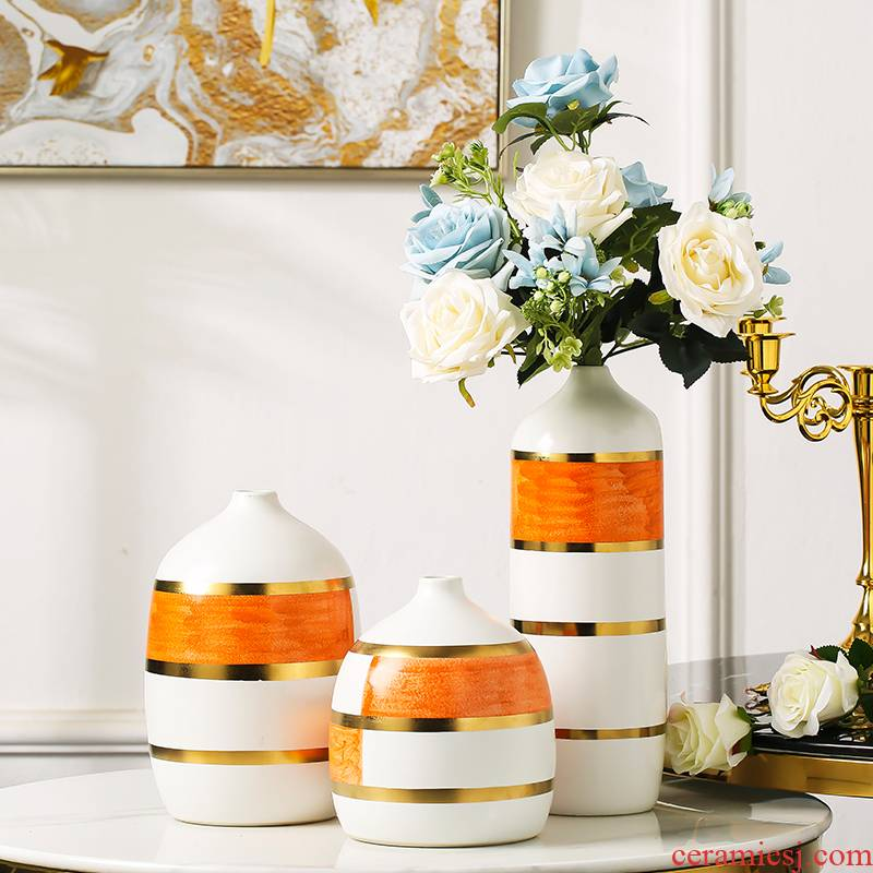 I and contracted creative ceramic vases, dried flower adornment furnishing articles household act the role ofing is tasted porch TV ark, example room decoration