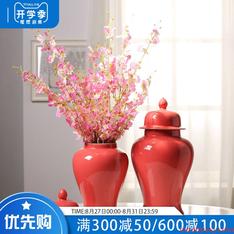 The New Chinese jingdezhen ceramics with cover storage tank sitting room between household adornment handicraft soft outfit example furnishing articles