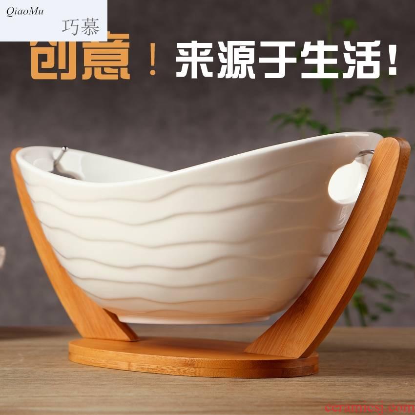 Sitting room place for DHT opportunely ceramic fruit bowl fruit basket white hanging three creative fruit basin fashion