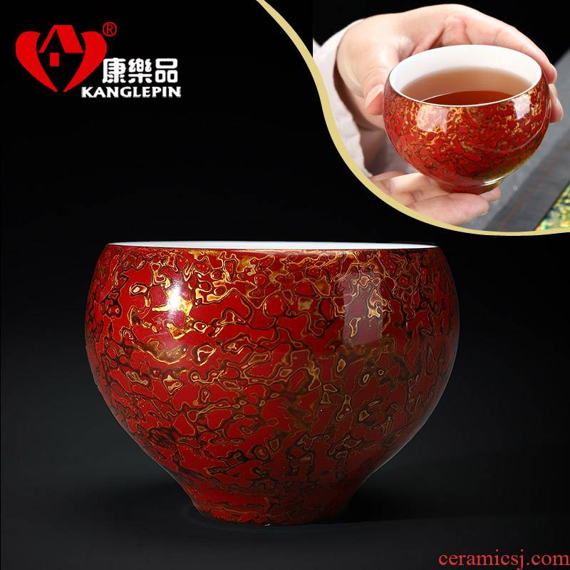 Recreation quality lacquer ware ceramic a cup of tea suet jade white porcelain kung fu tea cup pure manual Chinese lacquer, restore ancient ways