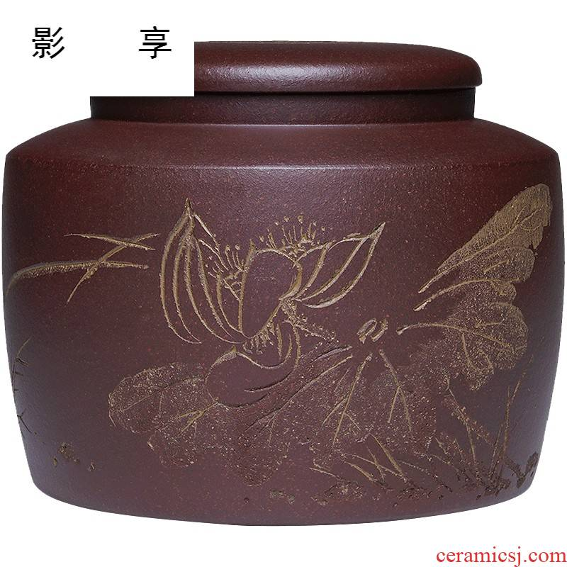 Shadow at yixing purple sand tea caddy fixings wake POTS are scattered receives Wu Jianli all hand up POTS moisture permeability