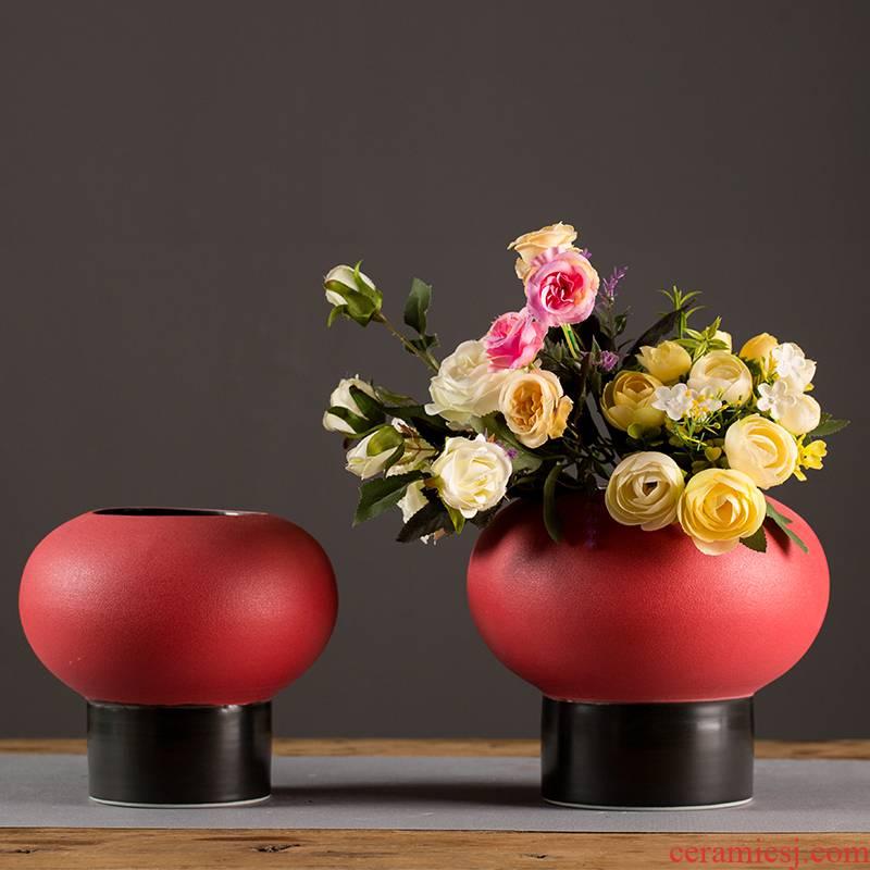 Northern wind ceramic vases, flower arrangement sitting room table, TV ark, creative household ceramics decoration decoration furnishing articles