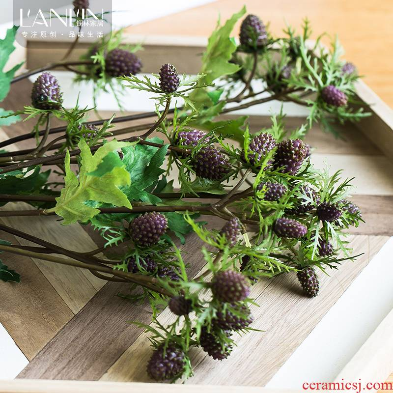The simulation flowers, artificial flowers, mulberry fruit decoration dried flower arranging flowers home decoration ceramic flower vases, furnishing articles, The living room