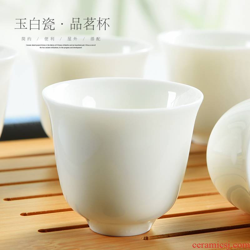 Kung fu masters cup cup ceramic cups sample tea cup dehua white porcelain bowl with small single cup tea tea cups