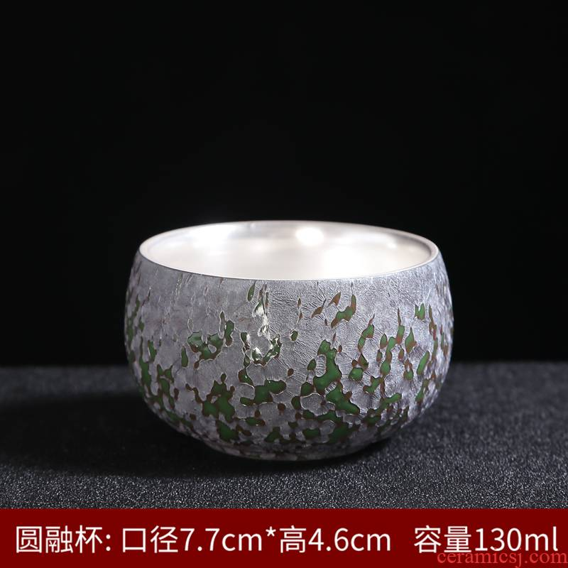 Silver cup 999 sterling Silver sample tea cup tea cup ceramics, ceramic kung fu masters cup but small cup tea bowl