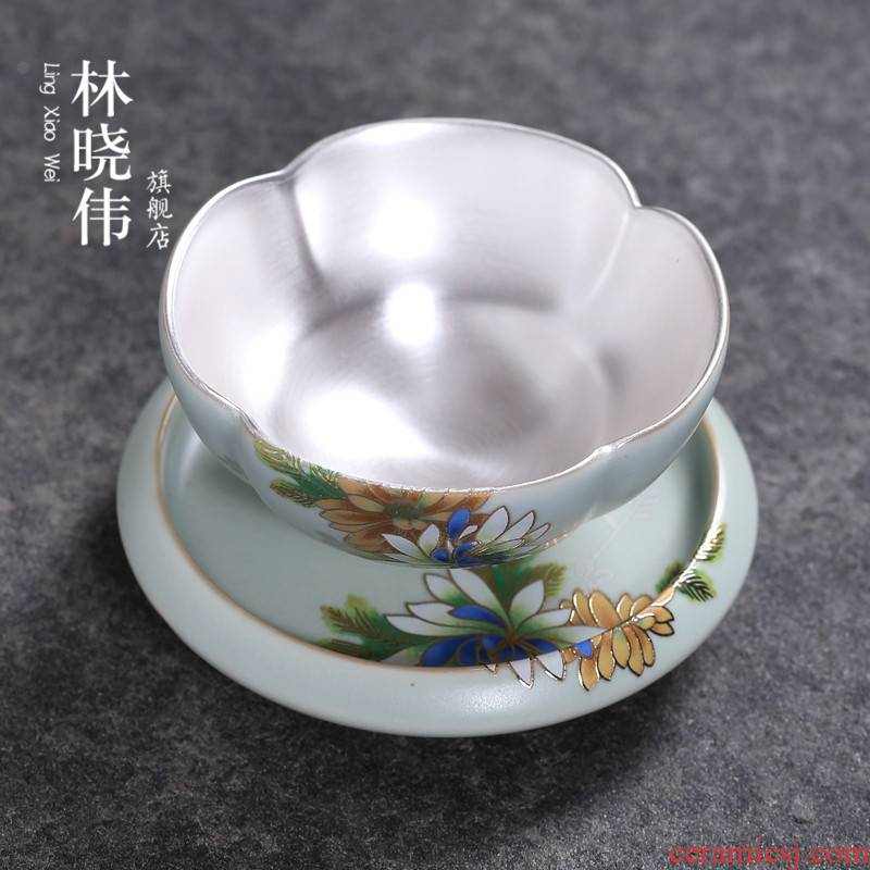 999 sterling silver your up ceramic individual cup of kung fu masters cup sample tea cup coppering. As silver cups cups, small single tea light