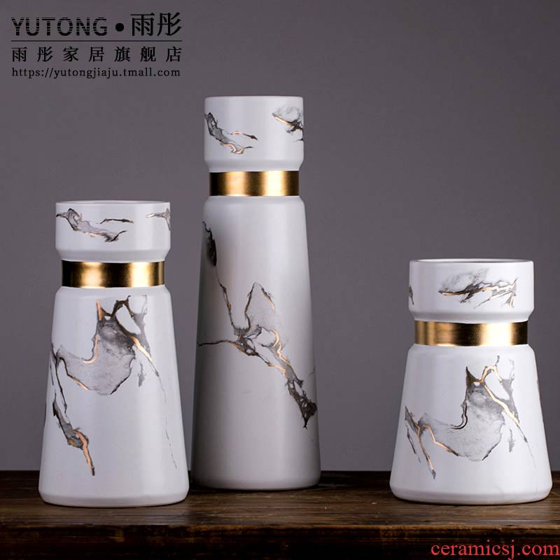 Jingdezhen ceramics vase furnishing articles TV ark, dried flower flower arranging the modern Chinese style household, sitting room adornment porcelain