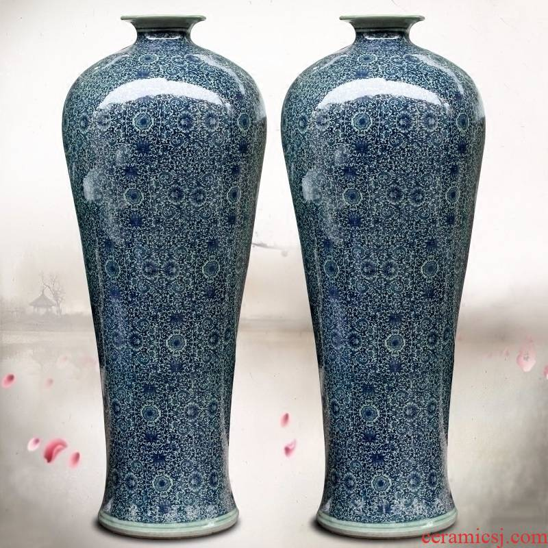 Jingdezhen ceramics bound lotus flower name plum bottle of large vase home sitting room hotel office study furnishing articles