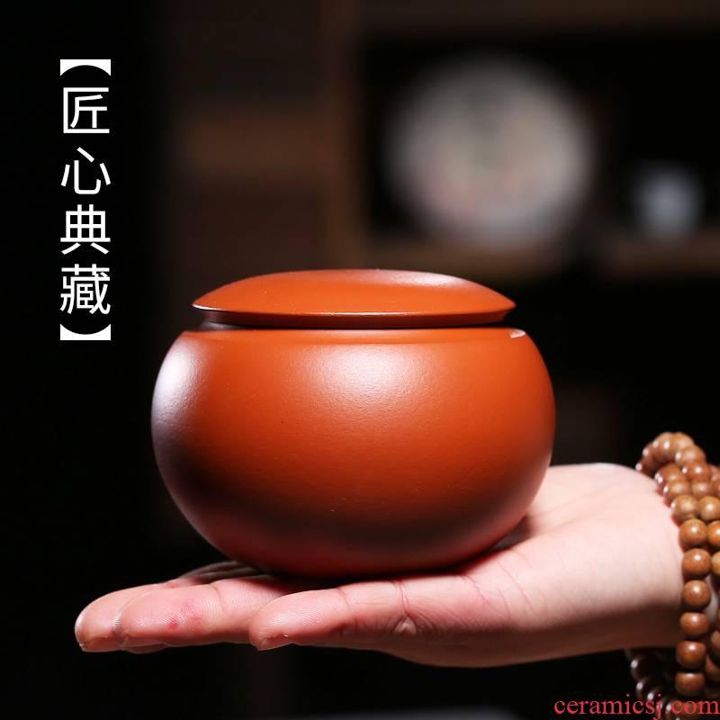 Shadow at yixing purple sand tea pot manual sealing receives box pu 'er wake receives ceramic tea box of JMX