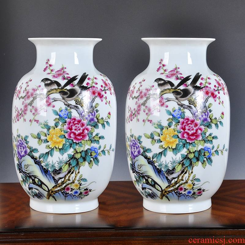 Creative lucky bamboo vase is placed in the sitting room number wine flower arranging restoring ancient ways is rich ancient frame ceramics handicraft ornament