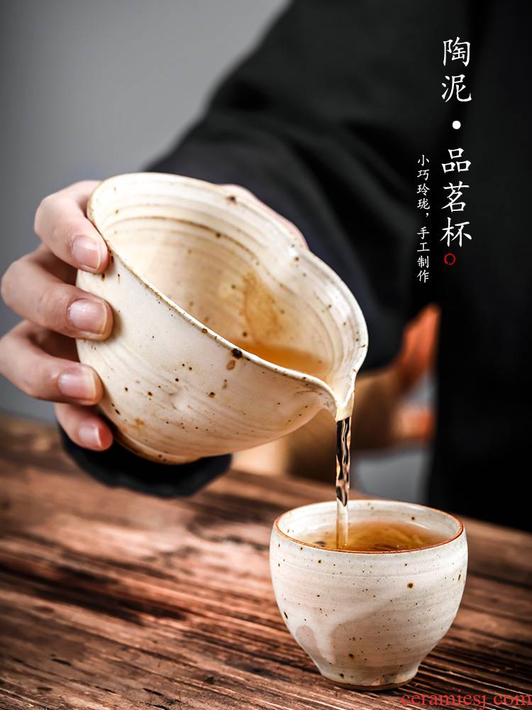 Jingdezhen kung fu tea cups checking ceramic masters cup sample tea cup tea cup high - temperature clay single men