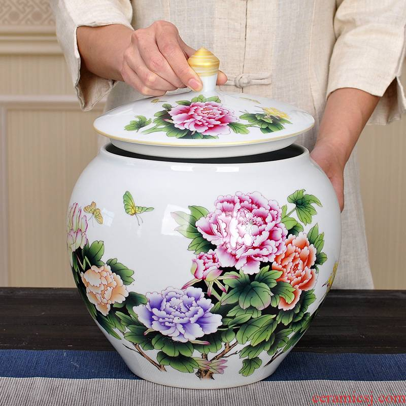 Jingdezhen large in ceramic tea pot of creative move fashion furnishing articles 2 jins POTS sealed as cans moistureproof