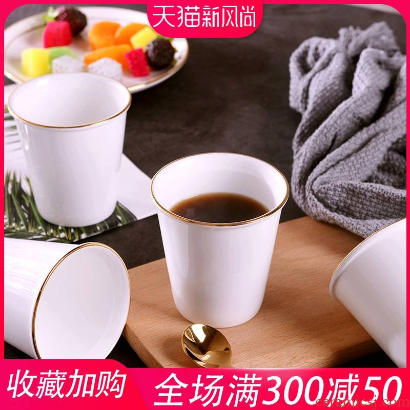 Creative manual gold 】 【 ceramic cups water cup ipads porcelain cup of milk coffee cup home wine cup
