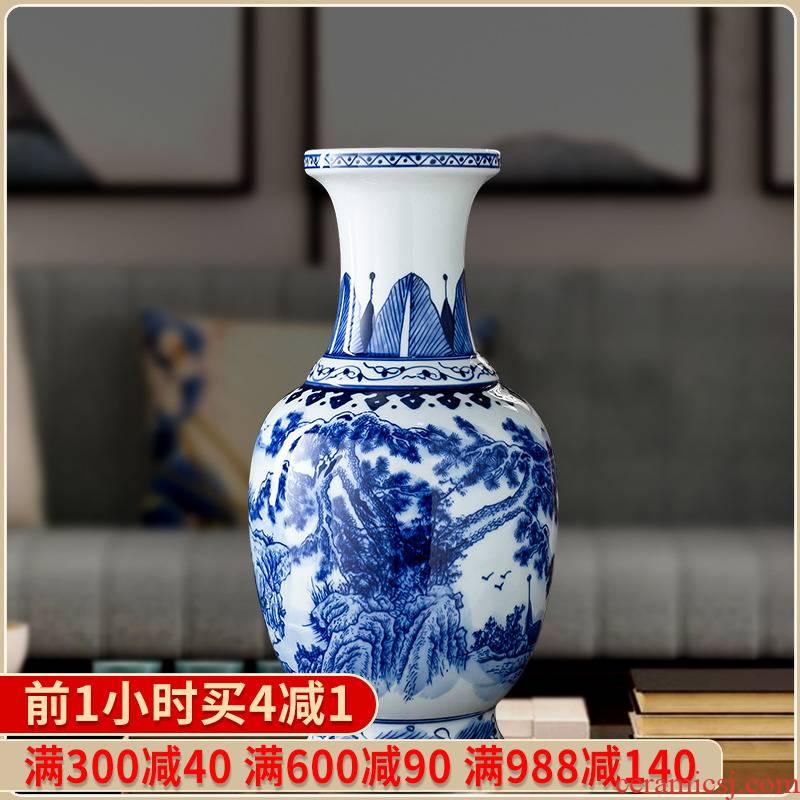 Antique vase of blue and white porcelain of jingdezhen ceramics furnishing articles sitting room adornment style restoring ancient ways household decoration porcelain