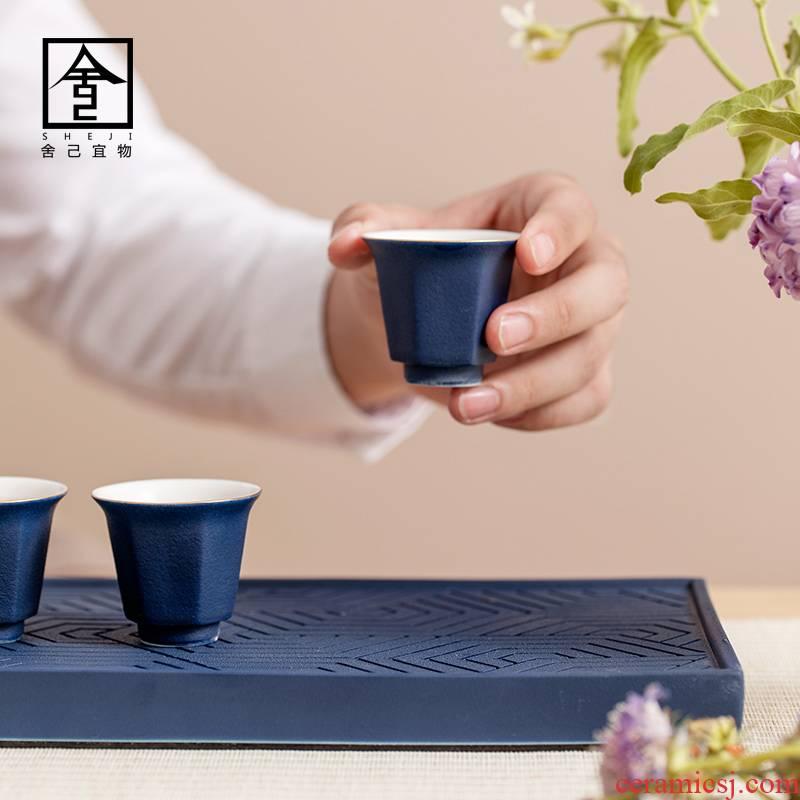 """The Self - """"appropriate content sapphire blue sample tea cup jingdezhen checking ceramic cups kunfu tea cups kung fu tea set"""