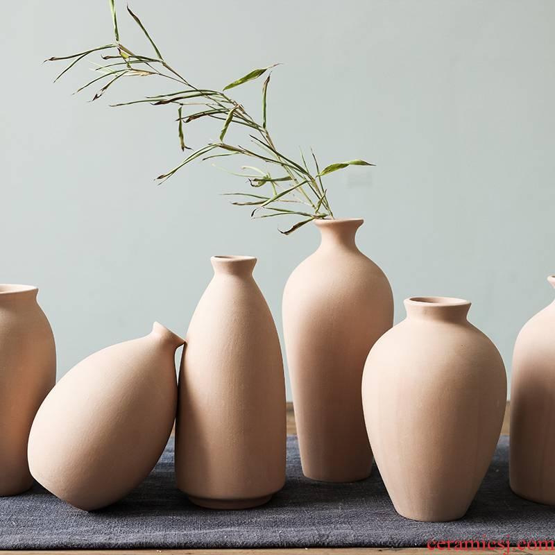 Minimalist Nordic household adornment element blank vase ceramic white flower implement bar painting graffiti ceramic film props
