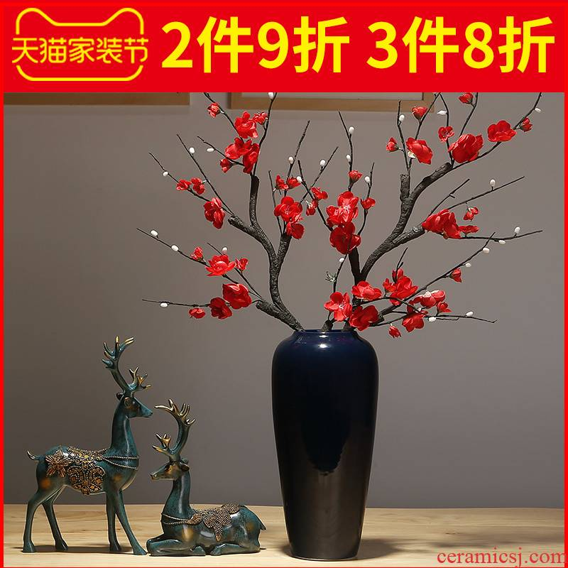 New Chinese style ceramic vase furnishing articles dried flowers flower arrangement sitting room porch ark, desktop decoration Europe type TV ark, adornment