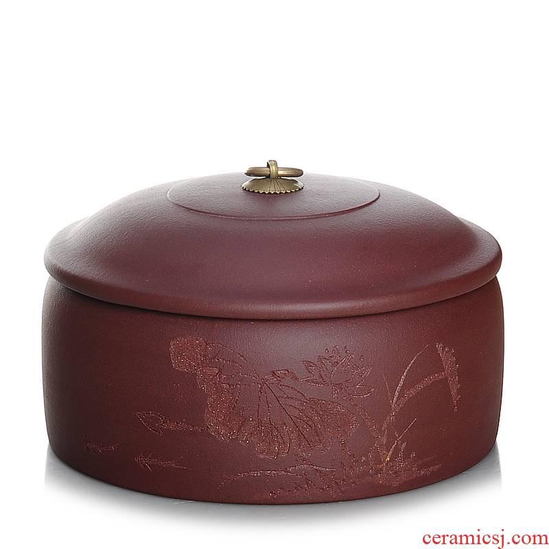 Shadow at yixing purple sand tea pot three cakes with large manual pu - erh tea pot receives JSBT