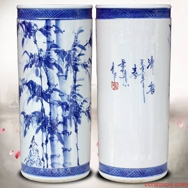 Jingdezhen ceramics bamboo report peaceful quiver home sitting room office furnishing articles study calligraphy and painting scroll to receive goods