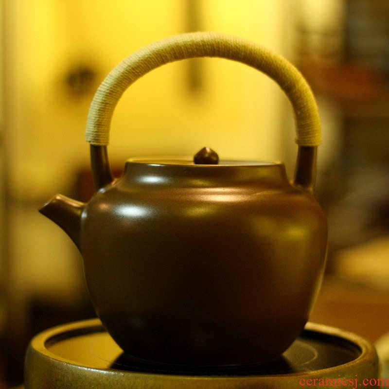 Also the purple clay teapot cooked pot boil a kettle curing pot kettle girder Diao chaoshan sand pot