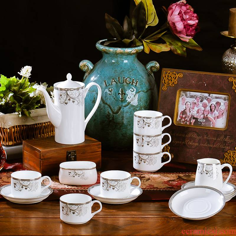 Ceramic coffee cup sets up phnom penh European contracted ipads porcelain coffee cup tea cups and saucers afternoon tea set