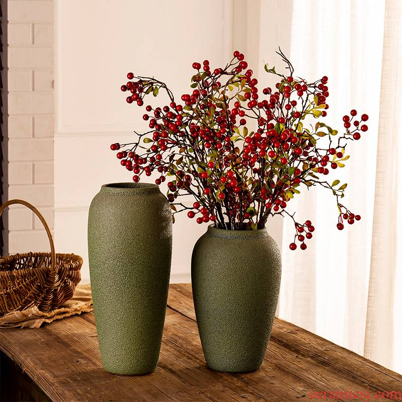 Jingdezhen ceramic ceramic vase creative furnishing articles table sitting room floret bottle of flower arranging flowers, art porcelain hydroponics