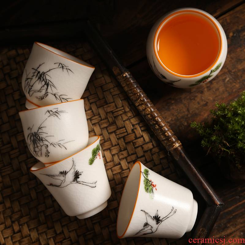 Hand - made ru up market metrix cups sliced open kung fu ceramic cups for its ehrs personal sample tea cup your porcelain tea set single cup of tea