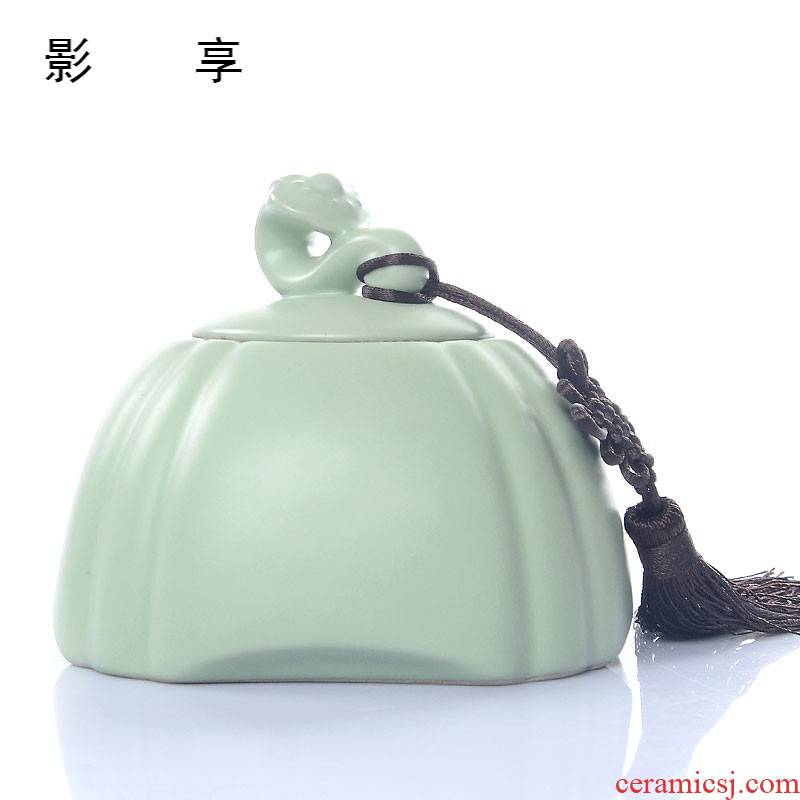Shadow enjoy your up ceramic POTS sealed pot tea accessories violet arenaceous caddy fixings tea box packaging tea HF