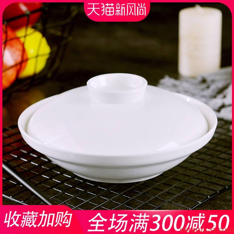 Household under the glaze color ipads porcelain dish dribbling cover 7 inch ceramic hotel restaurant dishes creative contracted deep soup plate