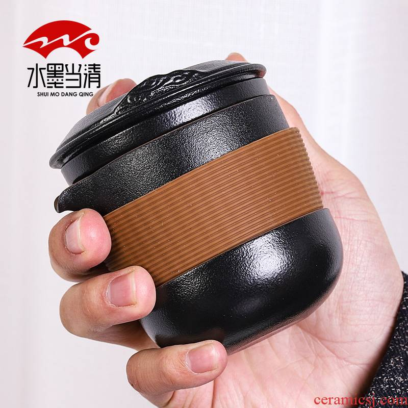 The Car is suing crack a pot of portable fourth Japanese travel kung fu tea set to receive a package of household ceramics