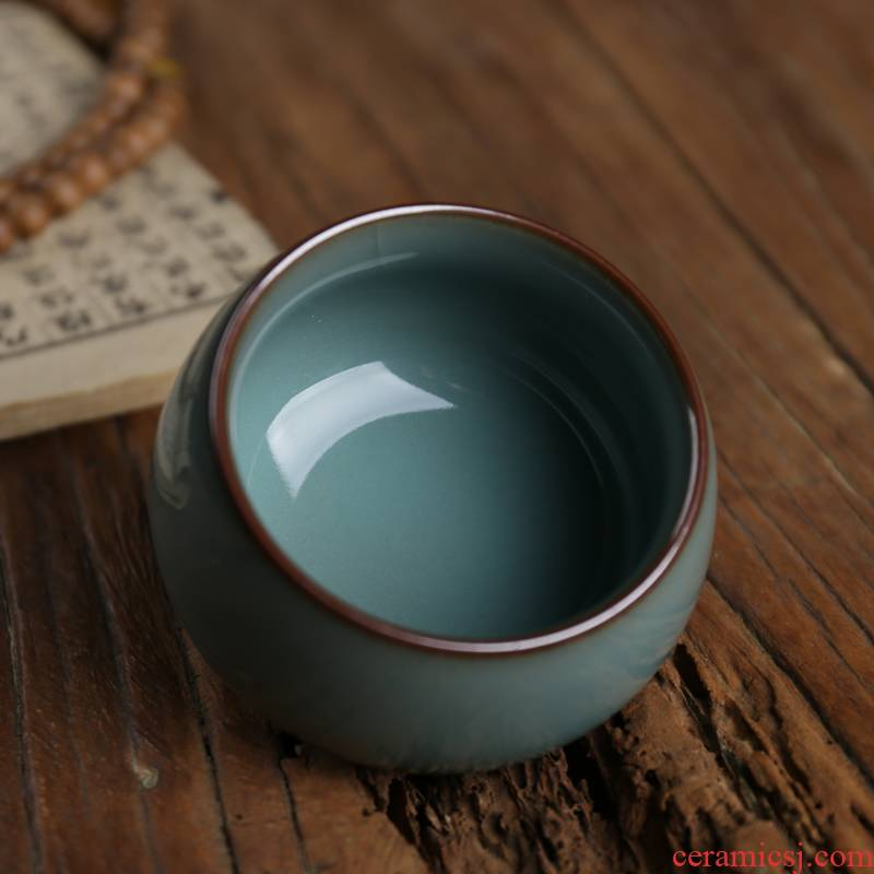 Get together scene scene celadon ceramic sample tea cup Wang Wu cup manually copy the southern song dynasty single CPU kung fu tea cups