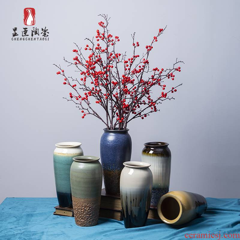 Light much creative vase Chinese jingdezhen ceramics hydroponic lucky bamboo flower arranging desktop sitting room porch place to study