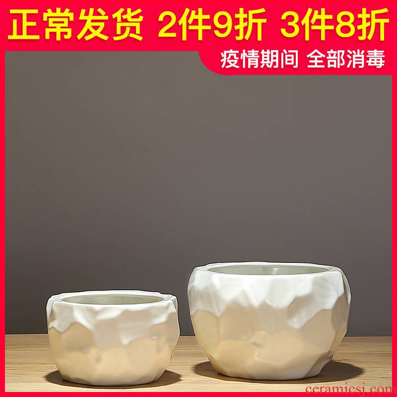 New Chinese style is I ceramic vase furnishing articles flower arranging contracted household act the role ofing is tasted porcelain of jingdezhen dried flowers sitting room adornment