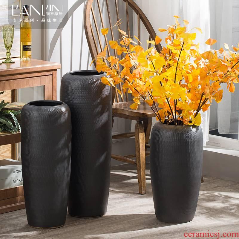 Jingdezhen vases, flower arranging landing simulation flower suit hotel villa sitting room adornment is placed large ceramic vase