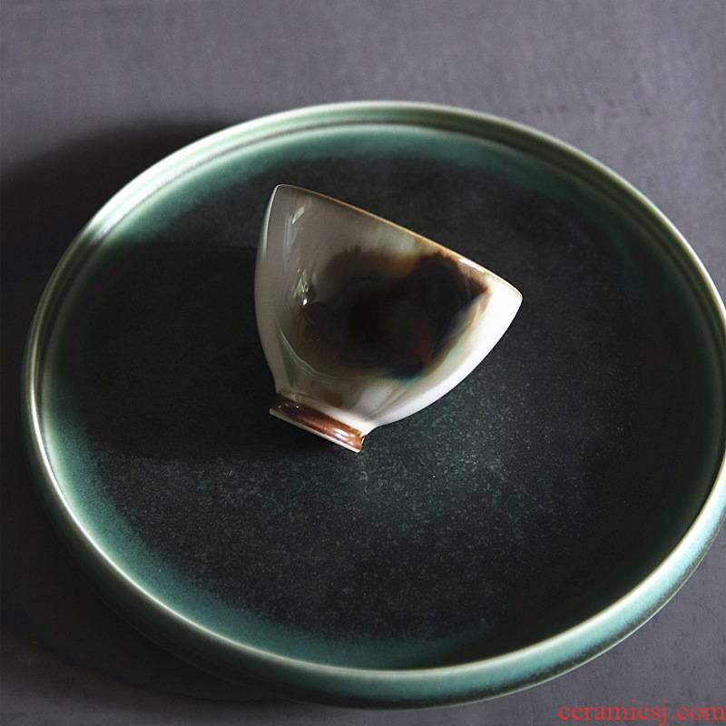 Poly real scene of jingdezhen ceramic ink by hand wind variable glaze masters cup cup sample tea cup cup sample tea cup