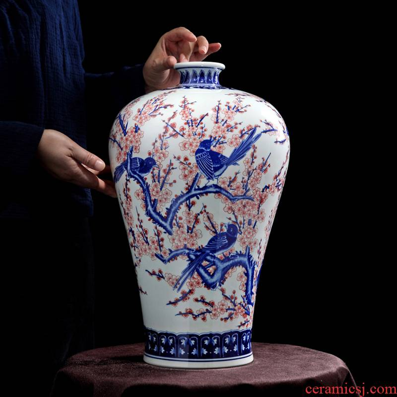 Jingdezhen blue and white youligong vase imitation the qing qianlong beaming mei bottles