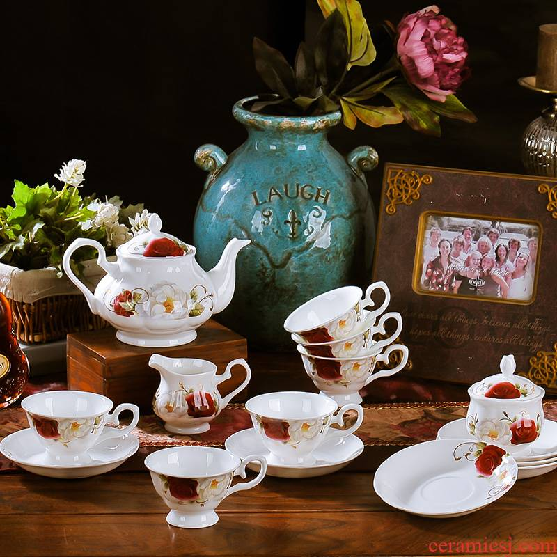 Ceramic coffee cup suit European contracted up phnom penh ipads porcelain coffee cup tea cups and saucers afternoon tea set