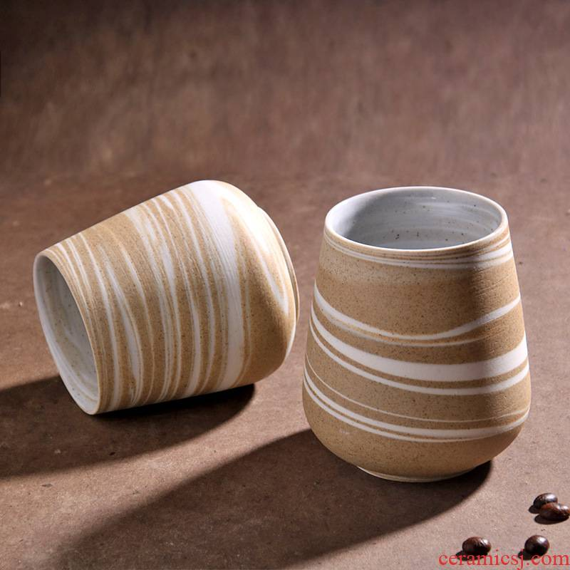 Poly real view jingdezhen Japanese manual move mark cup fine ceramic clay primary ground grain coffee cups of tea cups
