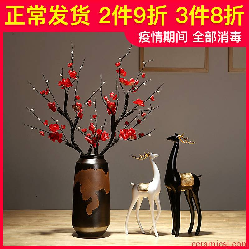 Jingdezhen ceramics vase new Chinese I sitting room porch dry flower arranging flowers adornment bedroom home furnishing articles