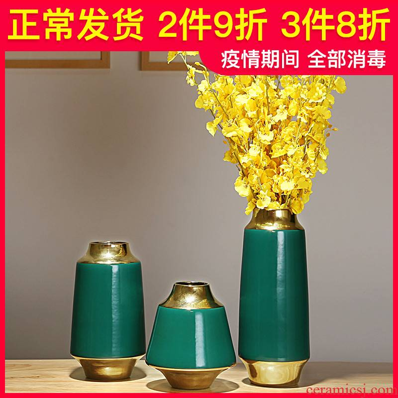 I and contracted creative living room TV ark, flower arrangement furnishing articles home decoration ceramic dried flower vases, flower art