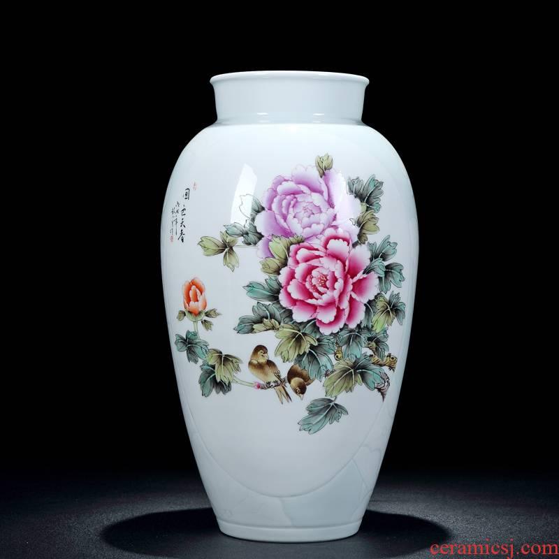 Jingdezhen vase pastel hand draw very beautiful vase furnishing articles