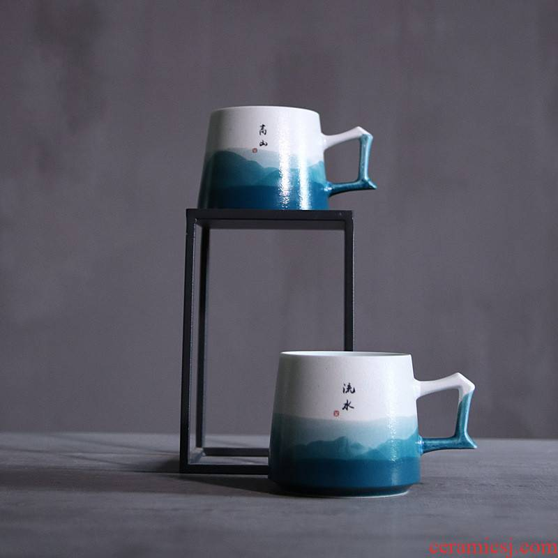 Poly real view jingdezhen ceramics by hand written picked mark cup, coffee cup enterprise LOGO customization