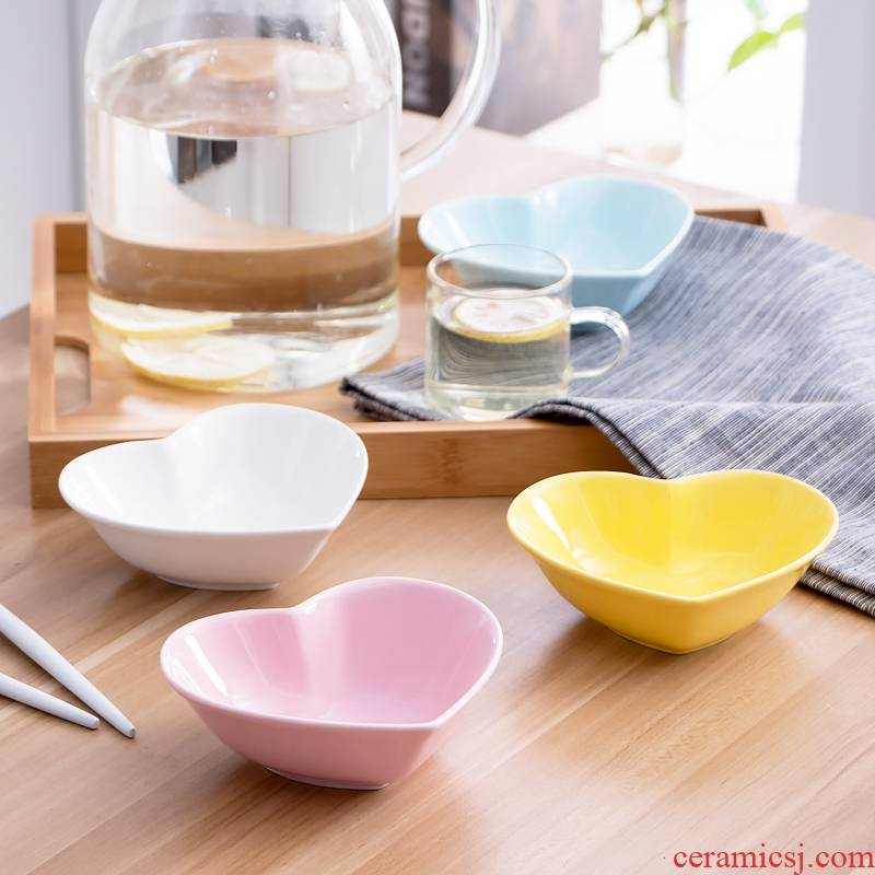 Qiao mu JYP entertainment entertainment ceramic dip small plate with sauce dish dish dish dish dish taste dishes soy sauce dish of sushi