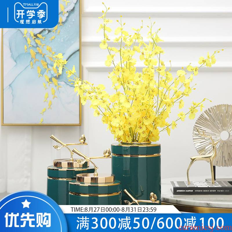 European vase furnishing articles I sitting room ceramic flower arranging flowers desktop TV ark, creative home decoration decoration