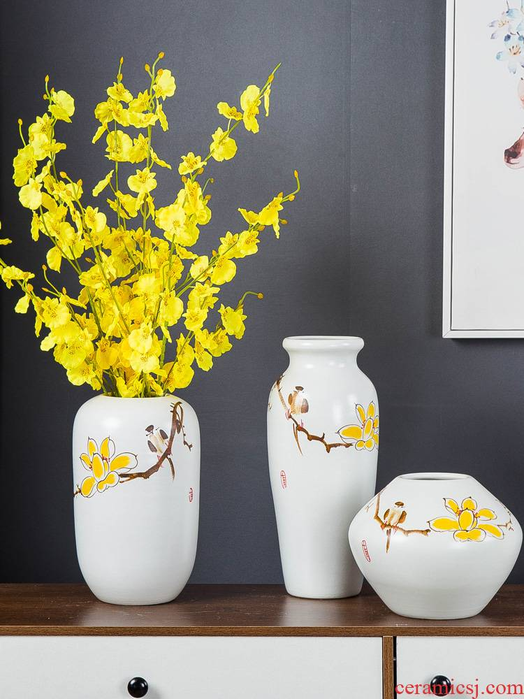 European ceramic vase simulation flower arranging place of new Chinese style household soft adornment porch decoration living room TV cabinet