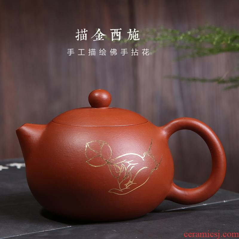Yixing undressed ore it all pure hand see hand - made xi shi zhu clay pot pot of kung fu tea tea kettle